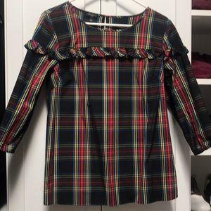 Tartan plaid blouse